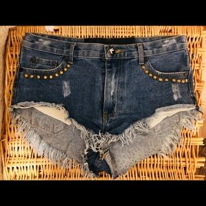 One Teaspoon Studded Shorts - 26